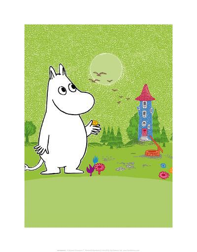 Moomintroll in Moomin Valley-Tove Jansson-Art Print