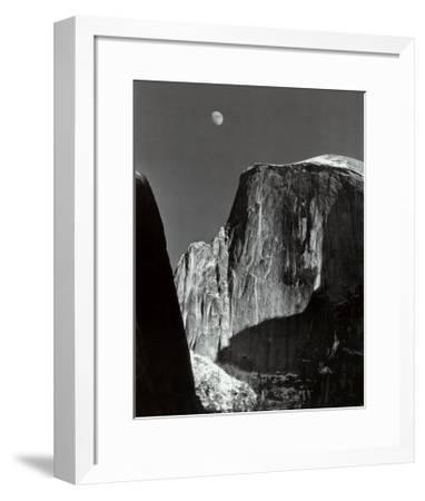 Moon and Half Dome, Yosemite National Park, 1960-Ansel Adams-Framed Art Print
