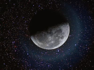 Moon and Stars-Dennis Lane-Photographic Print