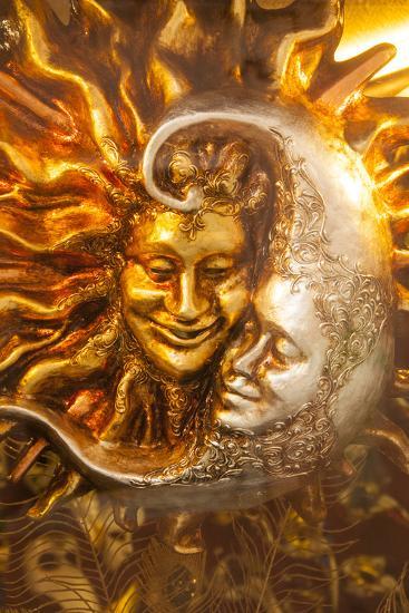 Moon and Sun Carnival Mask Decorations, Venice, Veneto, Italy, Europe-Guy Thouvenin-Photographic Print