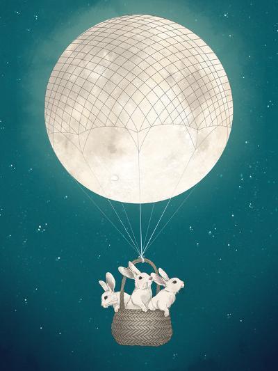 Moon Bunnies-Laura Graves-Art Print