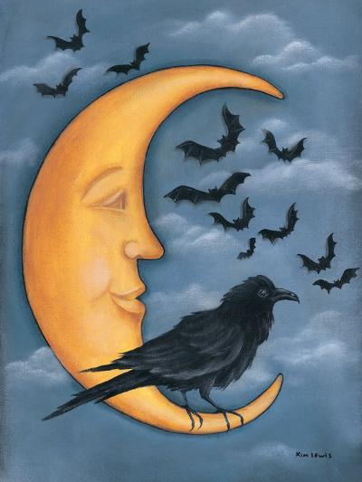 Moon Crow-Kim Lewis-Art Print