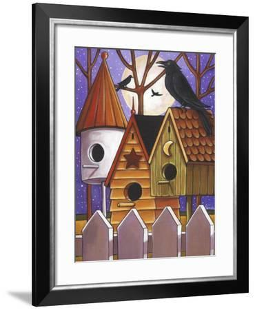 Moon Crows Houses-Cathy Horvath-Buchanan-Framed Giclee Print