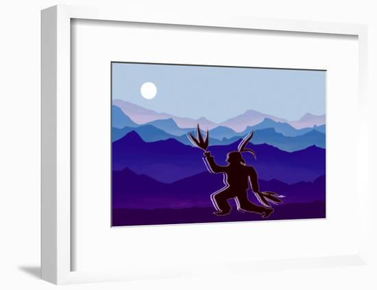 Moon Dancer Paying Homage to the Moon and Earth-Rich LaPenna-Framed Giclee Print