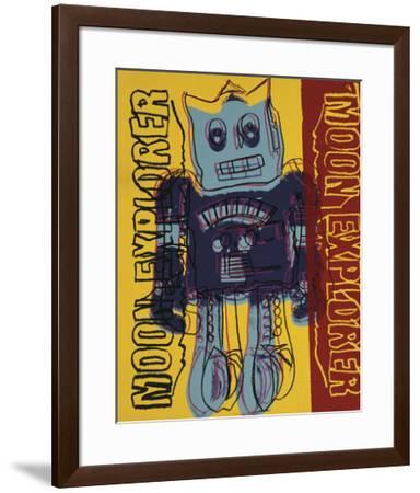 Moon Explorer Robot, 1983 (blue & yellow)-Andy Warhol-Framed Giclee Print