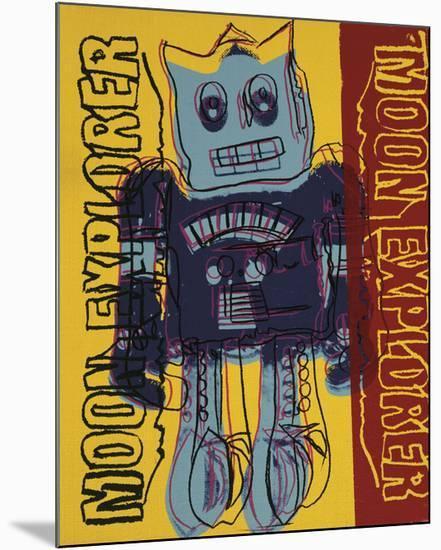 Moon Explorer Robot, 1983 (blue & yellow)-Andy Warhol-Mounted Giclee Print