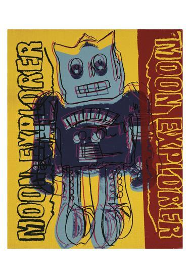 Moon Explorer Robot, 1983 (blue & yellow)-Andy Warhol-Art Print
