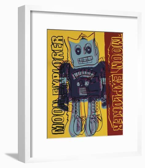 Moon Explorer Robot, 1983 (blue & yellow)-Andy Warhol-Framed Art Print