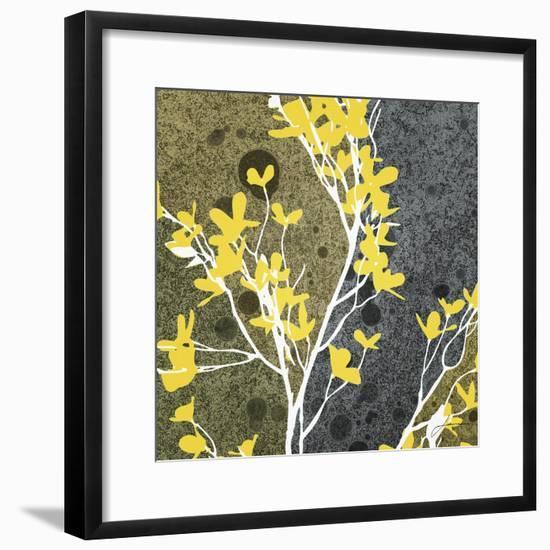 Moon Flowers II-James Burghardt-Framed Art Print
