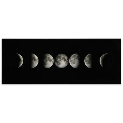 Moon - Free Floating Tempered Glass Panel Graphic Wall Art
