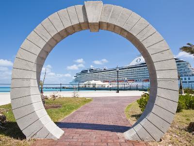 Moon Gate at Cruise Terminal in the Royal Naval Dockyard, Bermuda, Central America-Michael DeFreitas-Photographic Print