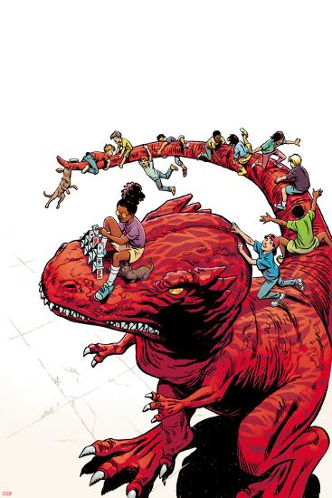 Moon Girl and Devil Dinosaur No. 7 Cover Art-June Brigman-Art Print
