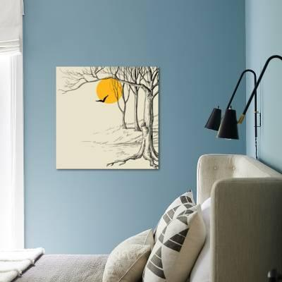 Moon in the Forest Sketch Art Print by Danussa   Art com