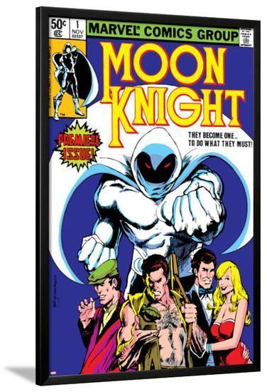 Moon Knight No.1 Cover: Moon Knight-Bill Sienkiewicz-Lamina Framed Poster