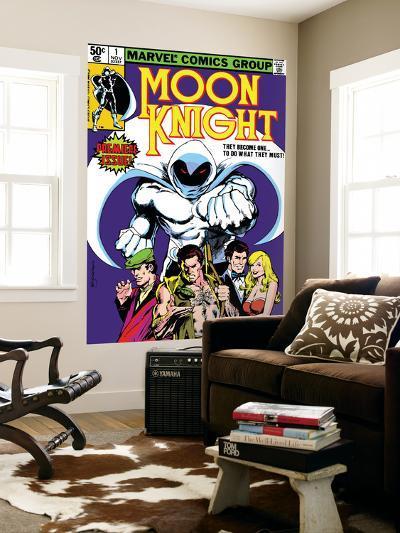 Moon Knight No.1 Cover: Moon Knight-Bill Sienkiewicz-Wall Mural