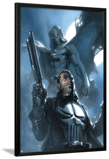 Moon Knight No.26 Cover: Punisher and Moon Knight-Gabriele DellOtto-Lamina Framed Poster