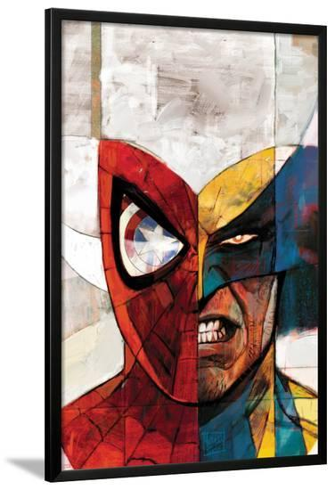 Moon Knight No.5 Cover: Spider-Man and Wolverine-Alex Maleev-Lamina Framed Poster