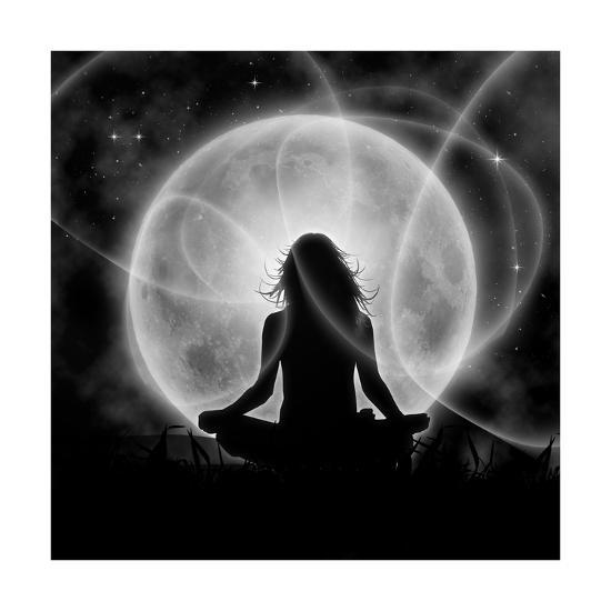 Moon Meditation-Detelina-Art Print