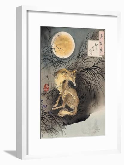 Moon on Musashi Plain, One Hundred Aspects of the Moon-Yoshitoshi Tsukioka-Framed Premium Giclee Print