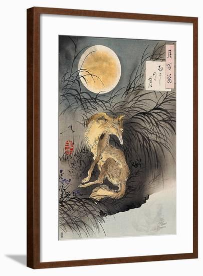 Moon on Musashi Plain, One Hundred Aspects of the Moon-Yoshitoshi Tsukioka-Framed Giclee Print