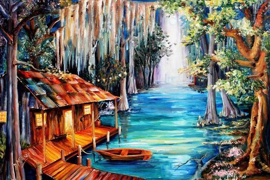 Moon On The Bayou Art Print Diane Millsap Art Com