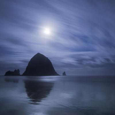 Moon over Canon Beach-Moises Levy-Photographic Print