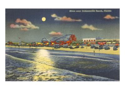 Moon over Jacksonville, Florida--Art Print