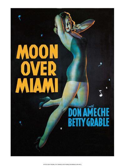 Moon Over Miami - Vintage Movie Poster--Art Print