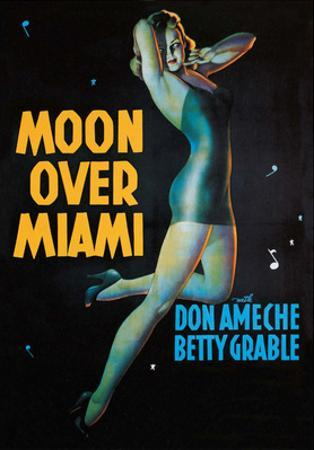 Moon Over Miami - Vintage Movie Poster