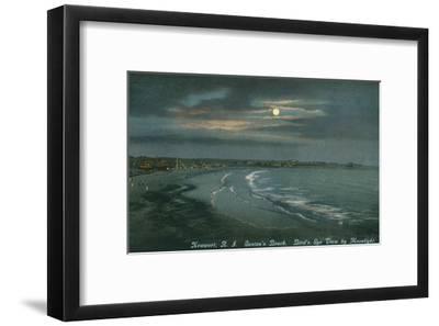 Moon over Newport, Rhode Island