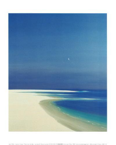 Moon over the Bay-John Miller-Art Print