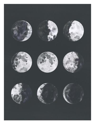 Moon Phases Watercolor Ii-Samantha Ranlet-Art Print