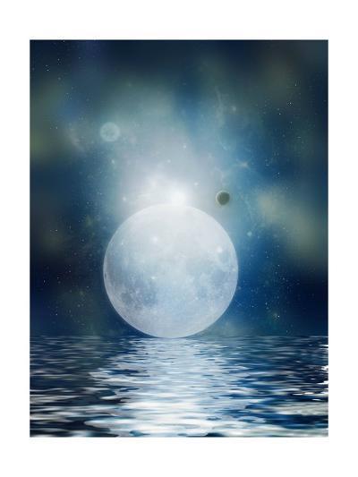Moon Reflection-justdd-Art Print