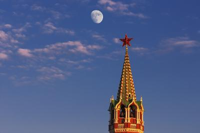 Moon Rise over the Saviour Gate Tower.-Jon Hicks-Photographic Print