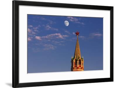 Moon Rise over the Saviour Gate Tower.-Jon Hicks-Framed Photographic Print