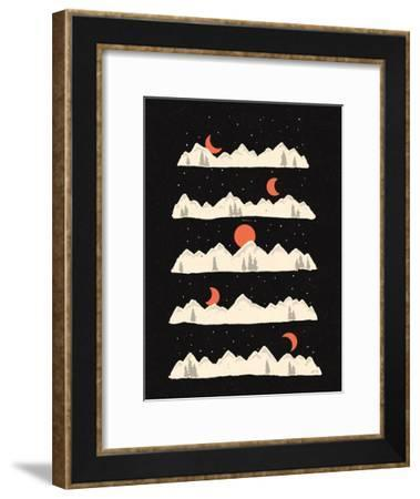Moon Rises Moon Sets-NDTank-Framed Art Print