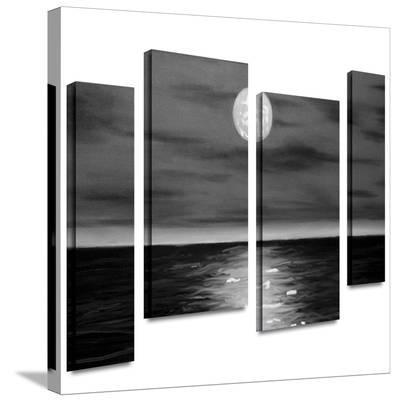 Moon Rising 4 piece gallery-wrapped canvas-Jim Morana-Gallery Wrapped Canvas Set