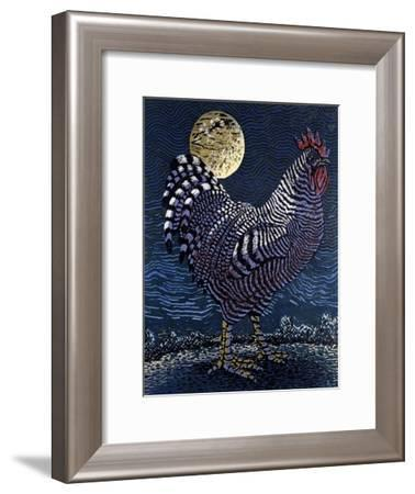 Moon Rooster-Barry Wilson-Framed Giclee Print