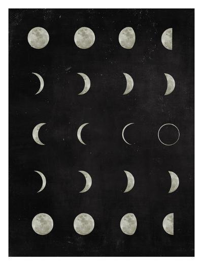 Moon-Peach & Gold-Art Print