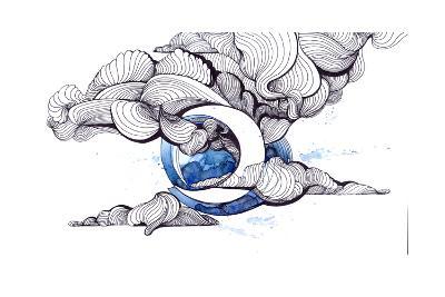Moon-okalinichenko-Art Print