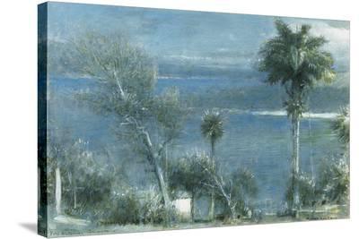 Moonlight at Port Antonio, Jamaica-Albert Goodwin-Stretched Canvas Print
