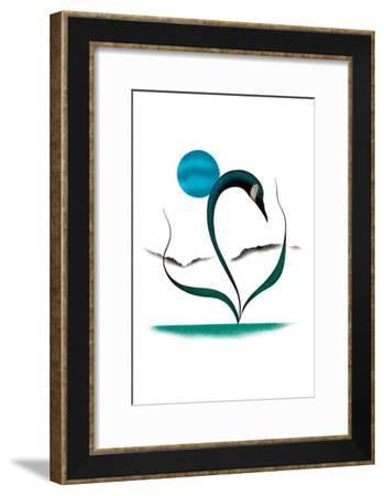 Moonlight Goose-Isaac Bignell-Framed Art Print