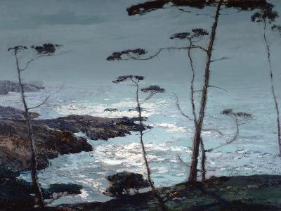 Moonlight Monterey-William Ritschel-Art Print