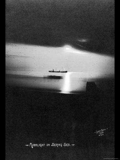 Moonlight on the Bering Sea- Lomen Brothers-Photo
