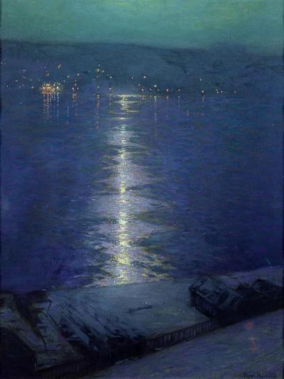 Moonlight on the River, 1919-Lowell Birge Harrison-Giclee Print