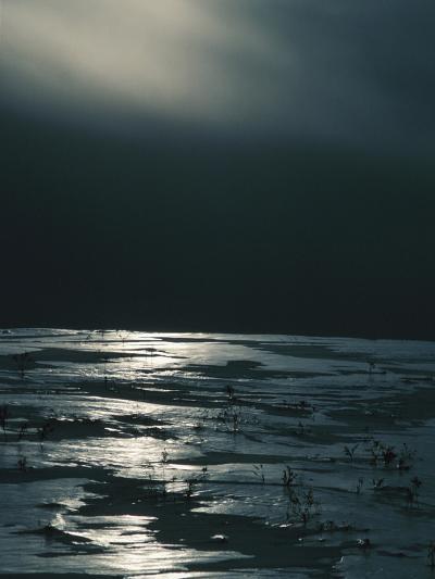 Moonlight Reflecting off Broken Ice--Photographic Print