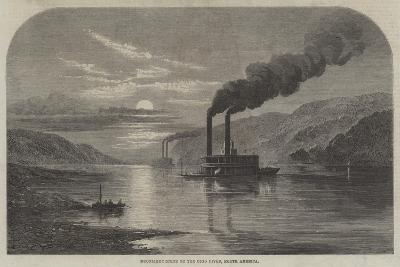 Moonlight Scene on the Ohio River, North America--Giclee Print