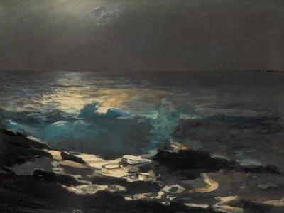 Moonlight Wood Island Light by Winslow Homer Giclee Canvas Print