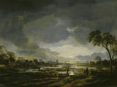 Moonlit Landscape-Aert van der Neer-Giclee Print