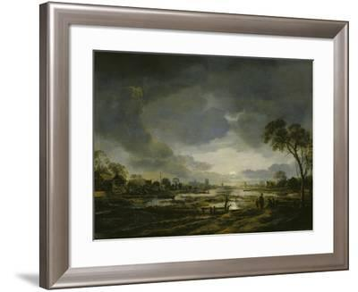 Moonlit Landscape-Aert van der Neer-Framed Giclee Print